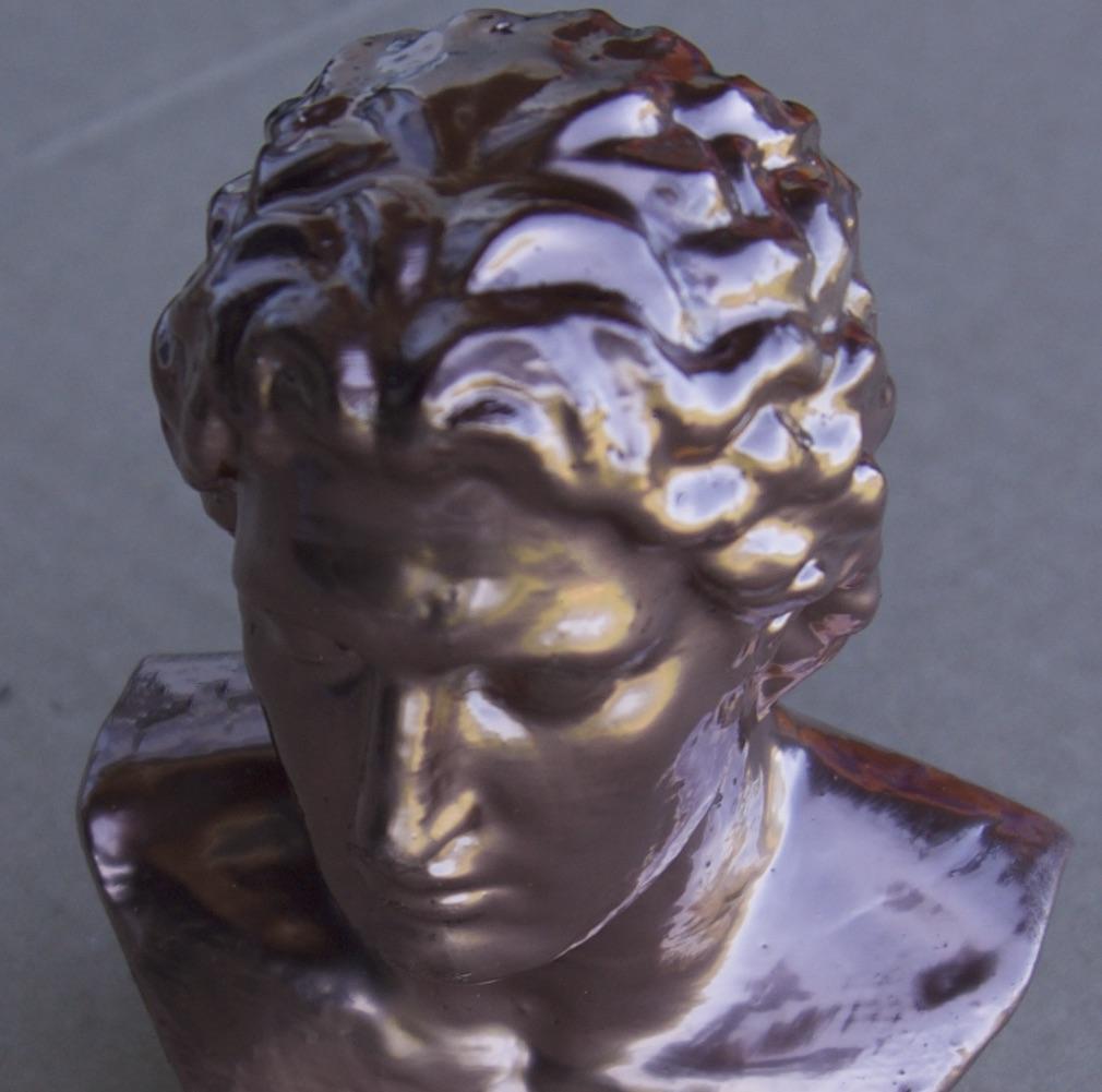 Alexandre. Peinture cuivre après lissage: plus aucune couche visible.