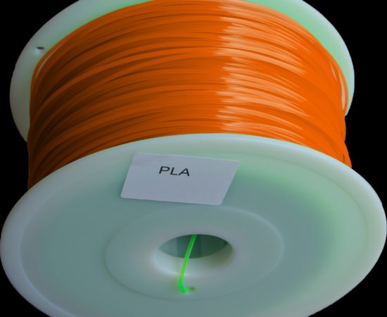 filament pla orange transparent
