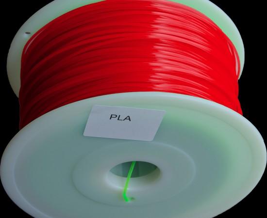 filament pla rouge transparent