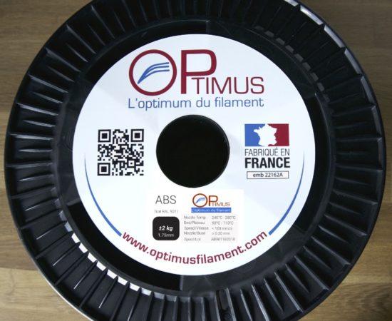 bobine 2.0kg ABS noir Optimus