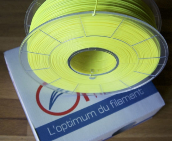 bobine abs jaune fluo