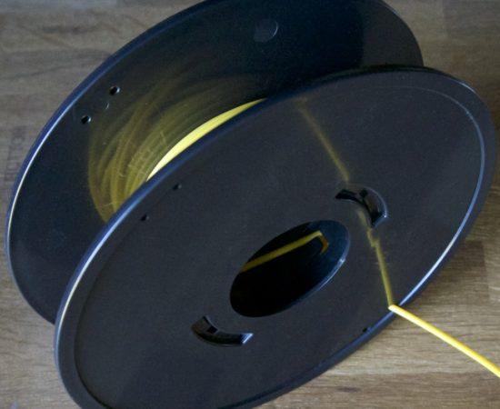 bobine vierge montée avec échantillon