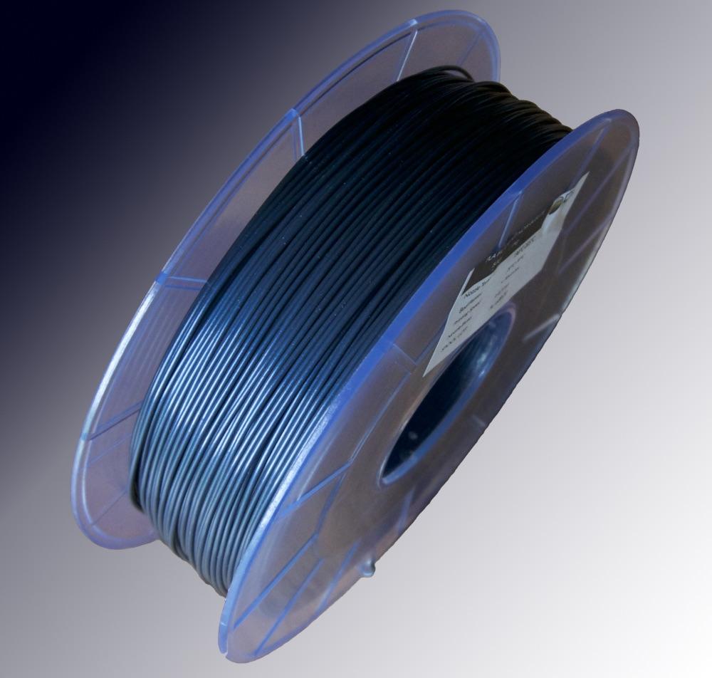 bobine filament pla noir bleute optimus