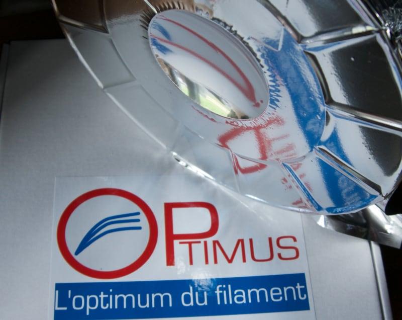 Filament PLA Aluminium gris Optimus boite V2