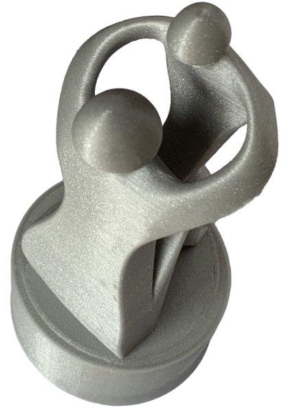 Filament PLA Aluminium Gris Optimus