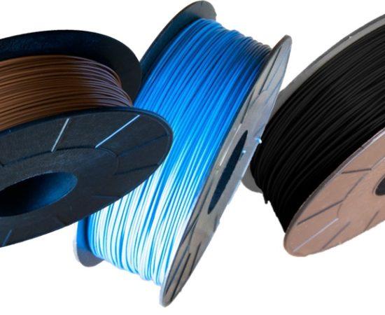 Pack filament PLA Optimus noir-brun-bleu